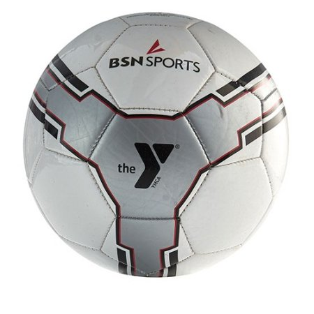BSN SPORTS™ The YMCA® Heritage Soccer Ball Size 5 - Silver - Deflated Soccer Balls