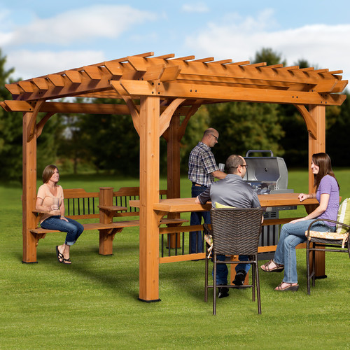 Backyard Discovery Oasis 7.11 Ft. H x 12 Ft. W x 10 Ft. D Pergola by Backyard Discovery