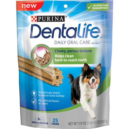 Purina DentaLife Daily Oral Care Small Medium Dog Treats 25 ct Pouch by Nestle Purina Petcare Company