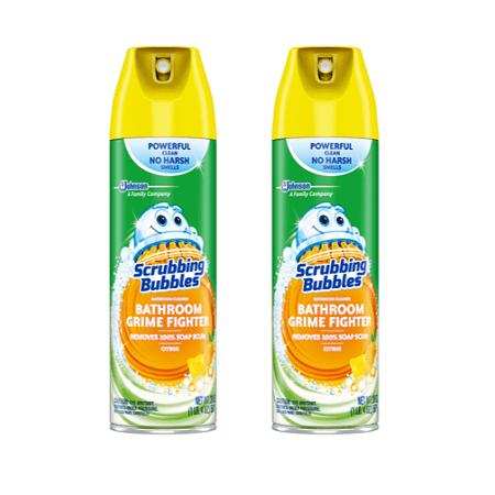 Foaming Bathroom Cleaner - (2 pack) Scrubbing Bubbles Bathroom Grime Fighter Aerosol, Citrus, 20 Ounces