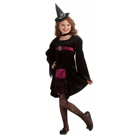 Gothic Witch Child Costume - Small - White Witch Kids Costume