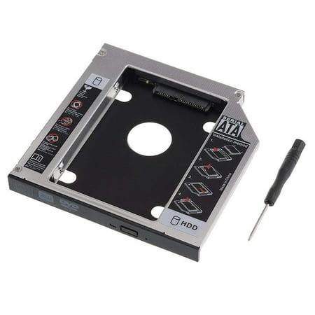 UniLink (TM) SATA 2nd HDD HD Hard Drive Caddy Case for 12.7mm Universal Laptop CD / DVD-ROM Optical Bay - image 2 de 5