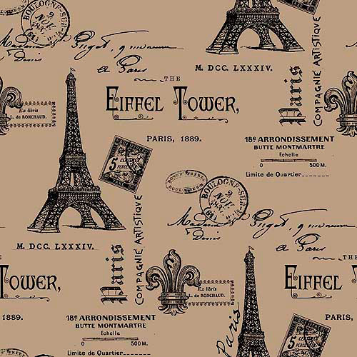 Springs Creative Burlap Prints Paris Eif
