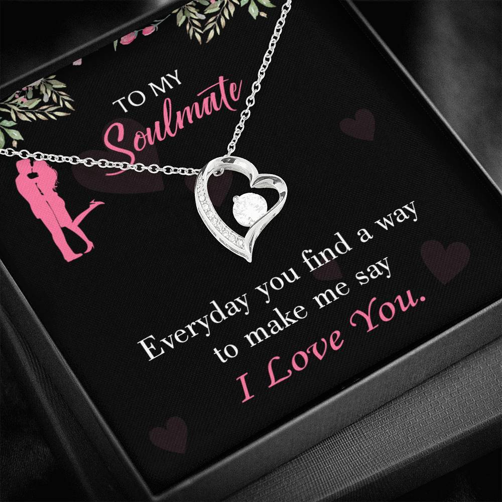 Express Your Love Gifts Girlfriend Birthday Gift You Make My Day 18k Gold or Stainless Steel 18 Necklace Girlfriend Gift
