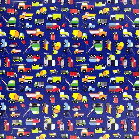 Jillson & Roberts Gift Wrap, Trucks, 5' x 30