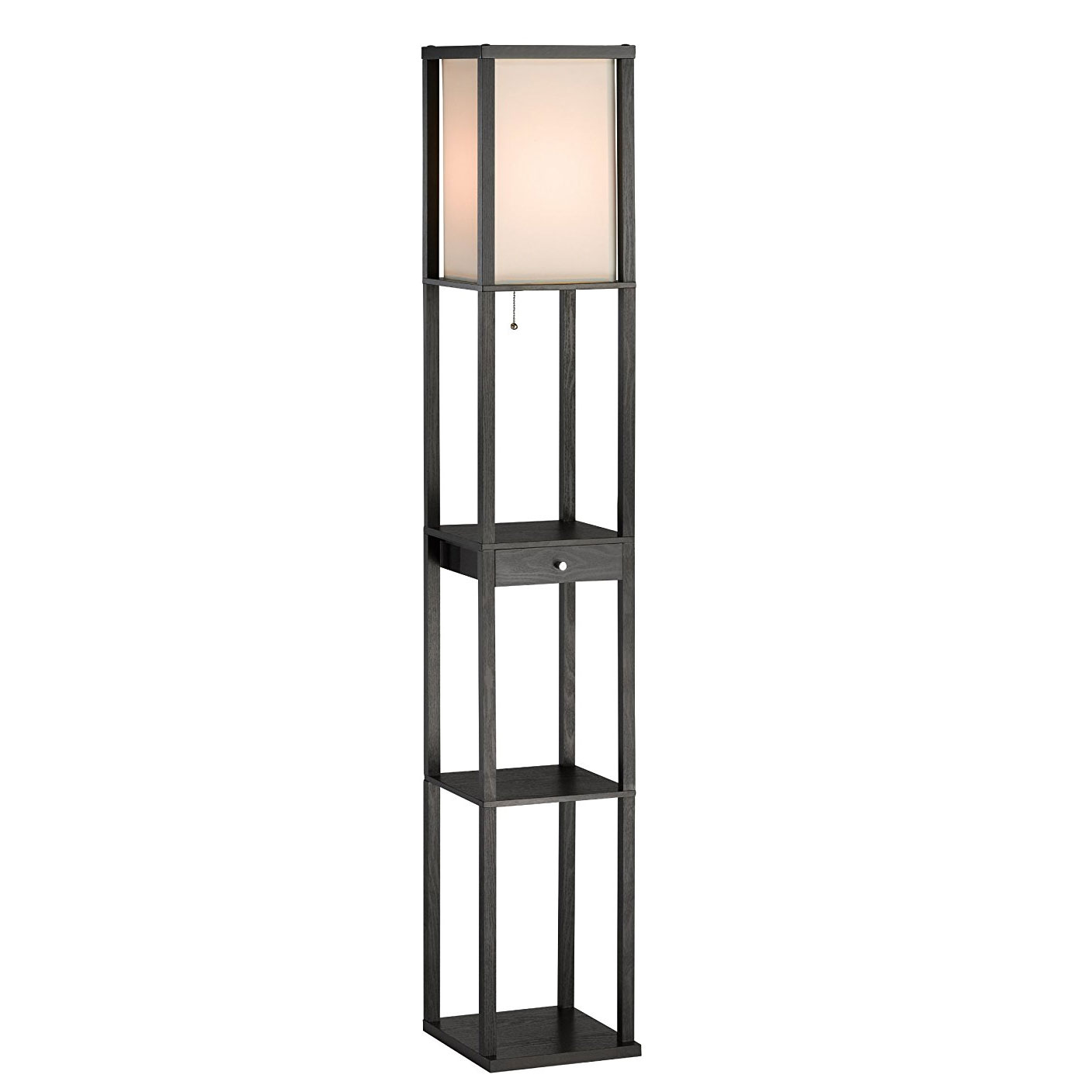 Click here to buy Adesso Parker 3133 Shelf Lamp with Drawer Black by Adesso.