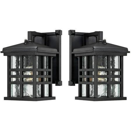 Goodbulb 6204500 Caliste One-Light Outdoor Wall Lantern with Dusk to Dawn Sensor - Textured Black / 1