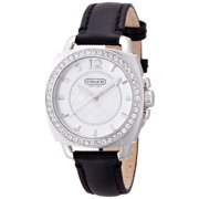 Coach Women's Mini Boyfriend Leather Crystal Glitz Watch 14501789