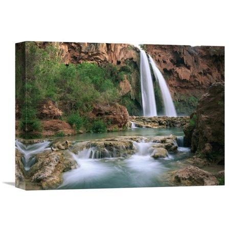 Global Gallery Havasu Creek Lined with Cottonwood Trees Havasu Falls Grand Canyon Arizona Wall Art