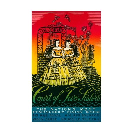 Court of Two Sisters, New Orleans Print Wall Art (The Court Of Three Sisters New Orleans)