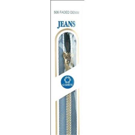 Brass Jean Metal Zipper (Coats - Thread & Zippers F27 7-506 Brass Jean Metal Zipper 7 in.-Stonewash )