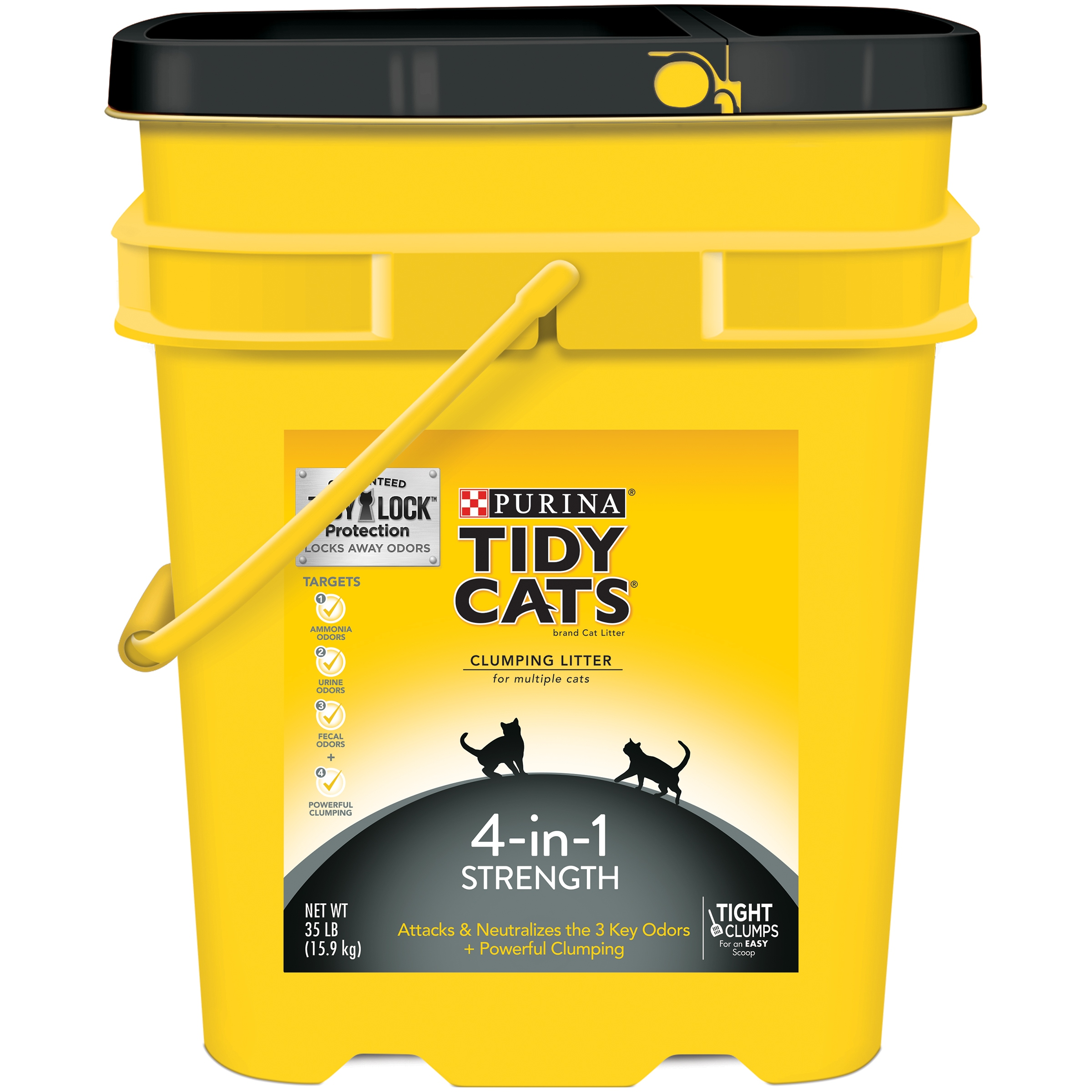Purina Tidy Cats 4-In-1 Strength Clumping Cat Litter, 35 Lb.