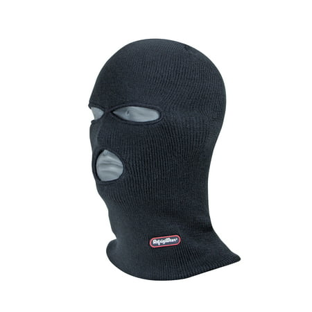 RefrigiWear 3-Hole Full Face Cover Thermal Ski Mask Black One Size Fits All