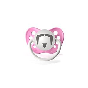 Personalized Pacifiers The Fu Manchu Mustache - Pink (Fake Fu Manchu Mustache)