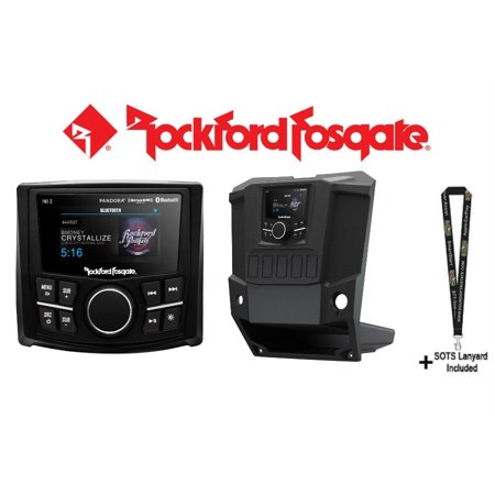 Rockford Fosgate PMX-3 with Rockford Fosgate RFRNGR-PMXDK Punch Marine/Motorsport Compact Digital Media Receiver w/ 2.7