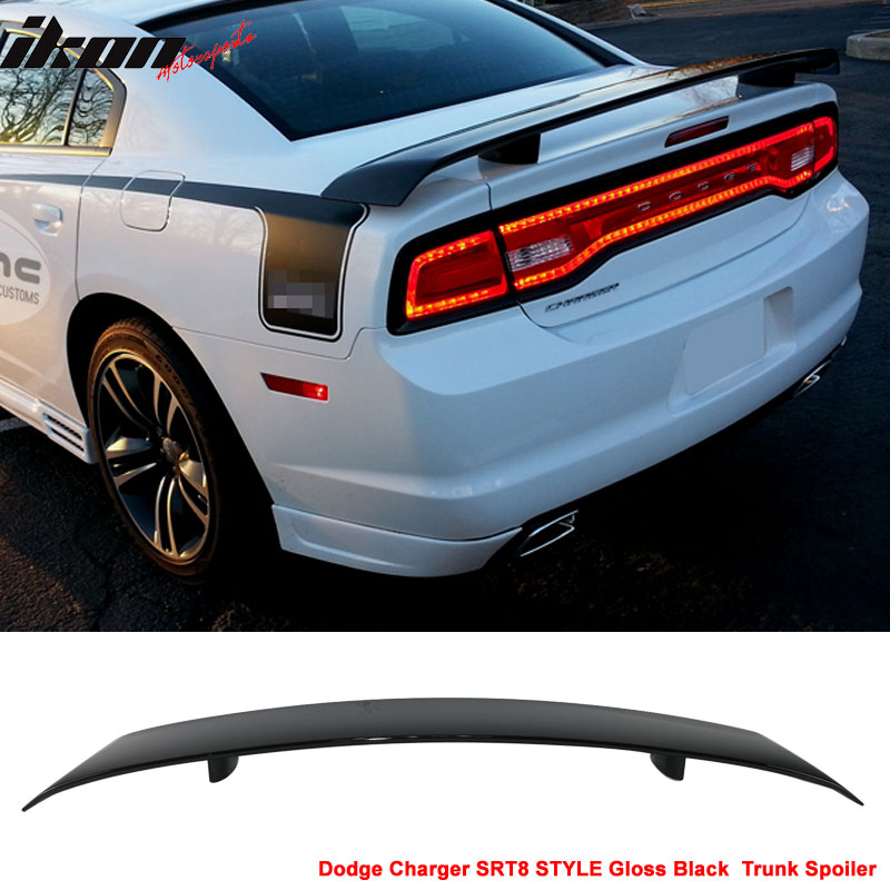Fits 11-19 Dodge Charger SRT8 ABS Trunk Spoiler Wing Painted Gloss Black