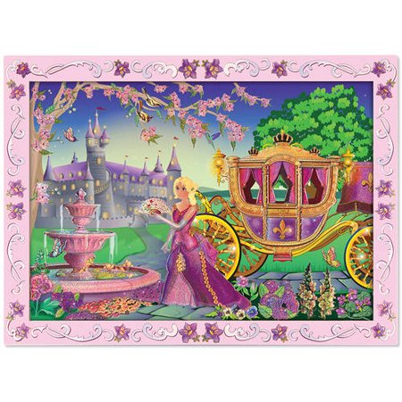 Melissa & Doug Peel and Press Sticker by Number Activity Kit: Fairytale Princess, 80+ Stickers, Frame