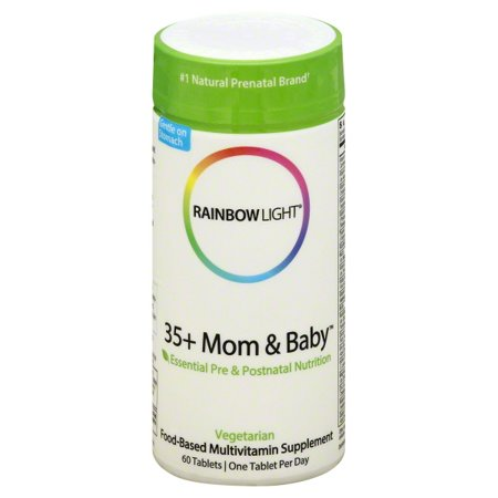 Rainbow Light 35 + Mom and Baby Essential Pre & Postnatal Nutrition, Food-Based Multivitamin, 60 Tablets (60 Day (Best Whole Food Multivitamin 2019)