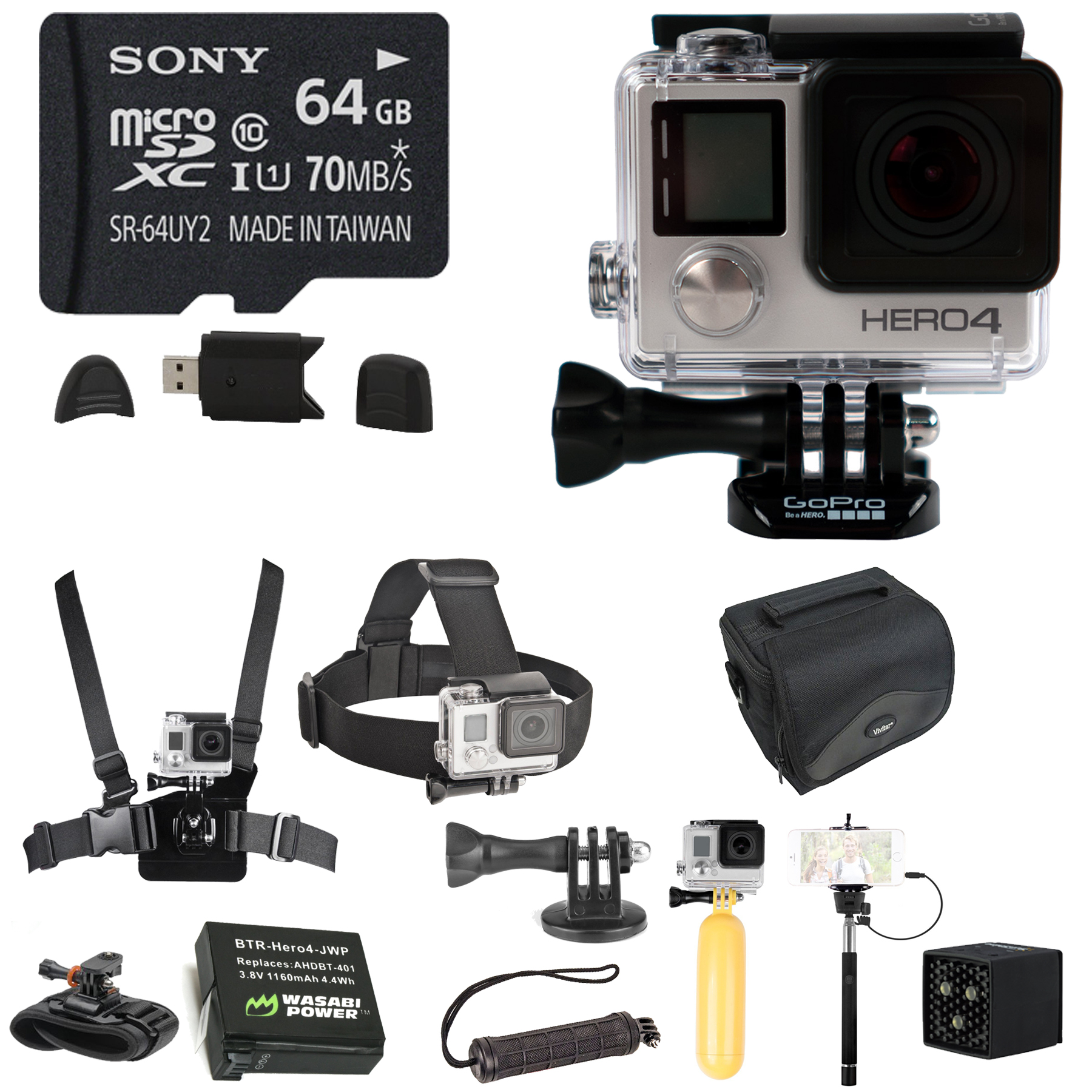 GoPro HERO4 Black Edition Camera With MeFOTO Sunshine Cam...