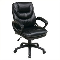 Product Image Kingfisher Lane Faux Leather Managers Office Chair In Black