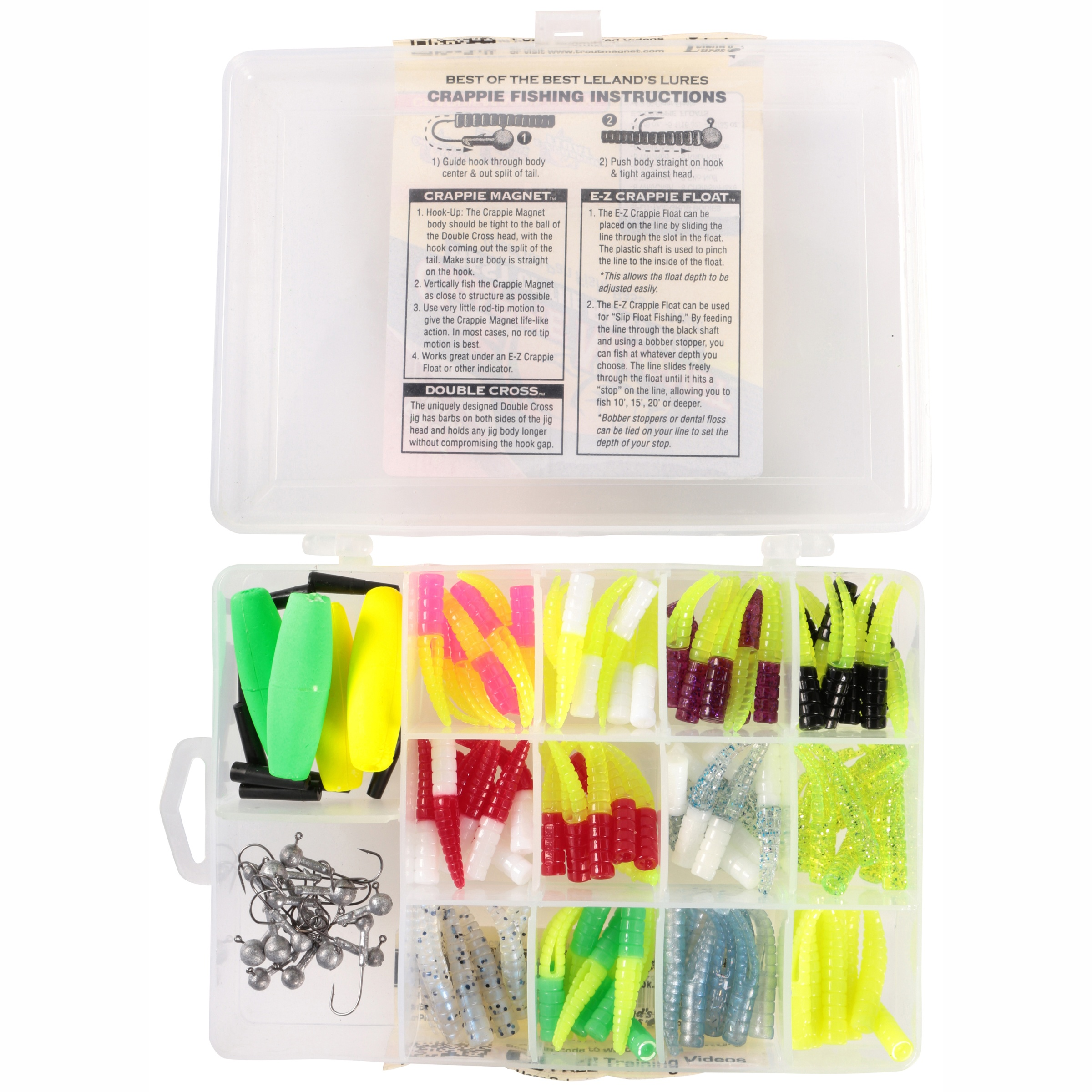 Leland Lures Crappie Magnets 2 packs 30 pc total blakes glow