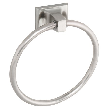 Design House 539163 Millbridge Wall-Mounted Towel Ring for Bathroom, Satin Nickel Finish