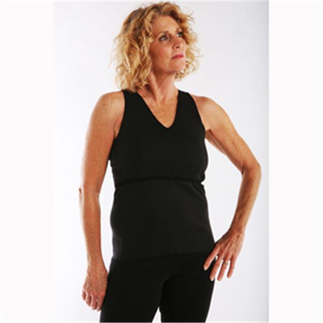 Ladies First Vee Mastectomy Camisole, Black - Xtra Large