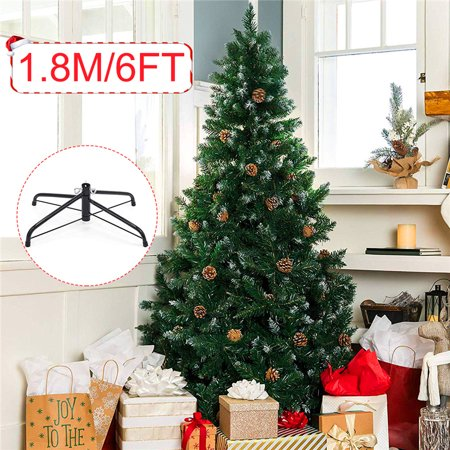 Hinged Artificial Christmas Tree Holiday Decor w/Snow Flocked Tips, Pine Cones, Metal Stand + 34 Pine Cone Binds The tree ()