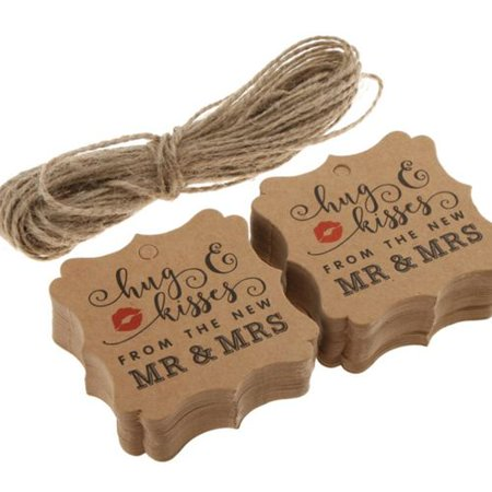 AkoaDa 100 Pcs Valentine's Day Favor Label Tags Kraft Tags Love Heart Wedding Tags AkoaDa 100 Pcs Valentine's Day Favor Label Tags Kraft Tags Love Heart Wedding Tags