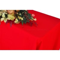 """Wedding Linens Inc. 54""""x96"""" Rectangular Polyester Table Cover Tablecloth for event, wedding, decoration use - Red"""