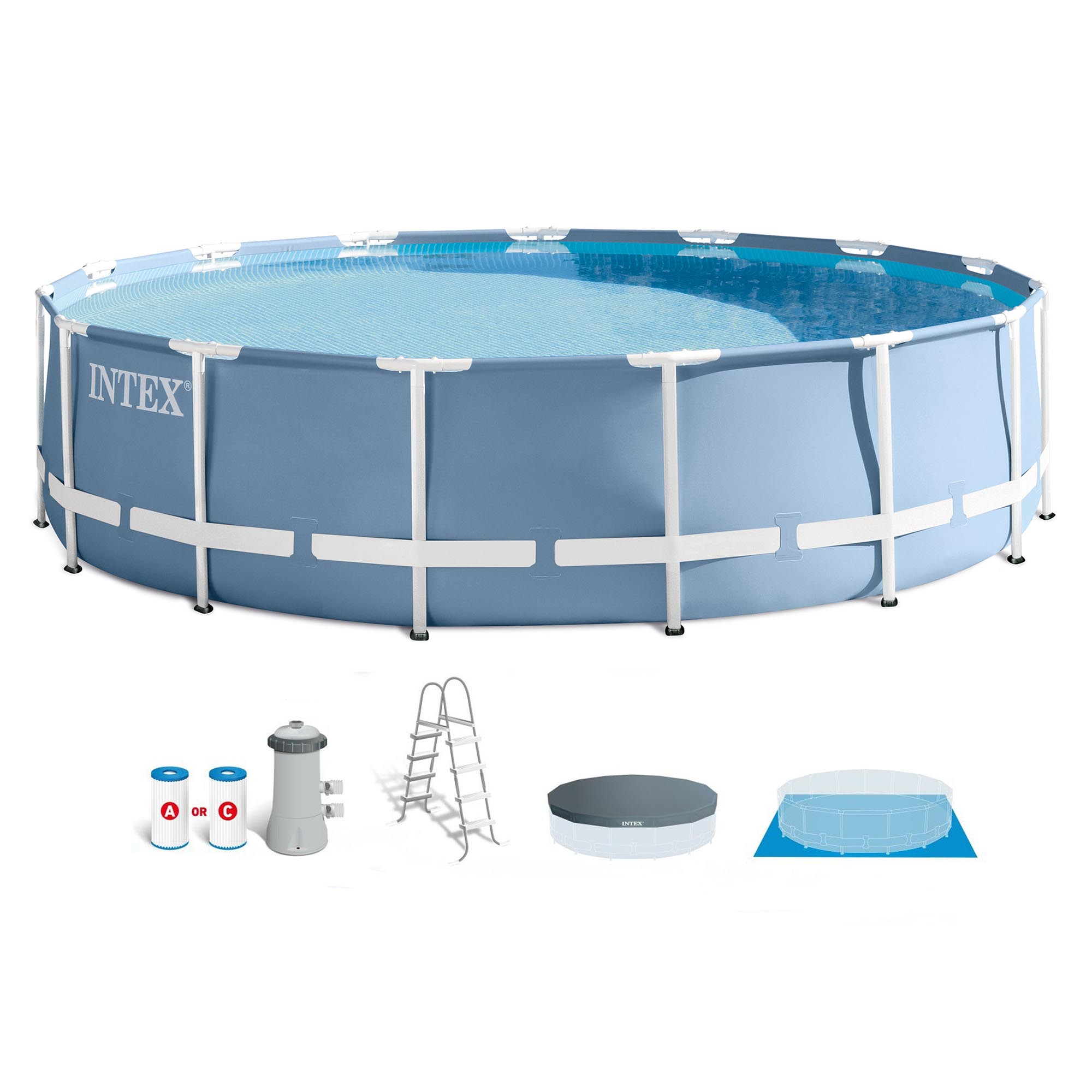 Intex 15 ft. x 42 in. Prism Frame Swimming Pool with 1,000 GPH Filter Pump by Intex