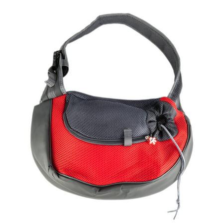 - ZeAofaPet Dog Cat Puppy Carrier Comfort Travel Tote Shoulder Bag Sling Backpack Red L