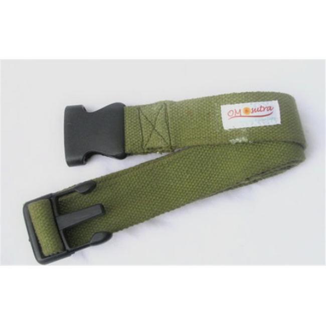 KushOasis OM133006-Olive OMSutra Yoga Strap Pinch -Quick R 6 ft.  - Color - Olive
