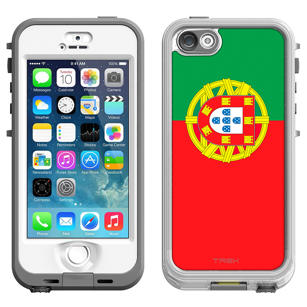 Skin Decal for LifeProof Nuud Apple iPhone SE Case Portugal Flag by Trek Media Group