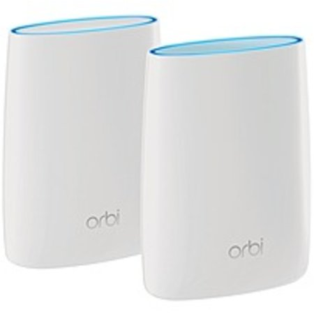 Refurbished Netgear Orbi RBK50 IEEE 802.11ac Ethernet Wireless Router - 2.40 GHz ISM Band - 5 GHz UNII Band - 6 x Antenna(6 x Internal) - 3000 Mbit/s Wireless Speed - 3 x Network Port - 1