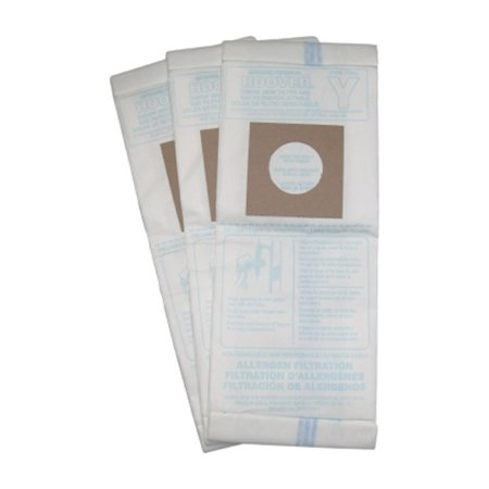 Hoover Windtunnel Upright Type Y Allergen Filtration Bags 3 Pack - 4010100Y, 43655109