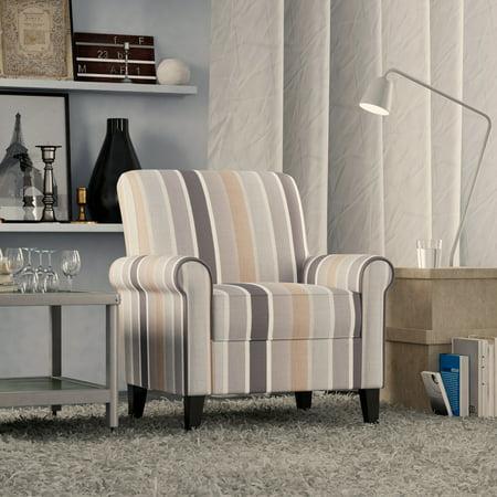 Homesvale Jodi Rolled Arm Chair in Multi-Stripe ()