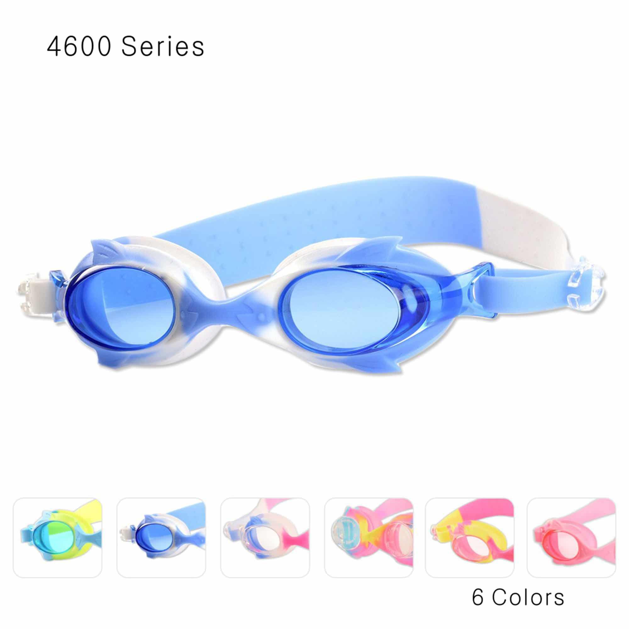 JML Kids Swim Goggles, Anti-Fog UV Protection Swimming Goggles(4600-Blue Yellow) by JML