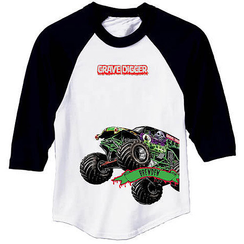 Personalized Monster Jam Grave Digger Boys' Youth Sports Jersey, XS, S, M, L
