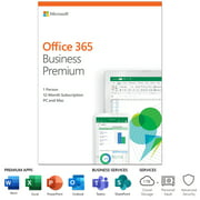Microsoft Office 365 Business Premium | 12-month subscription, 1 person, PC/Mac Key Card