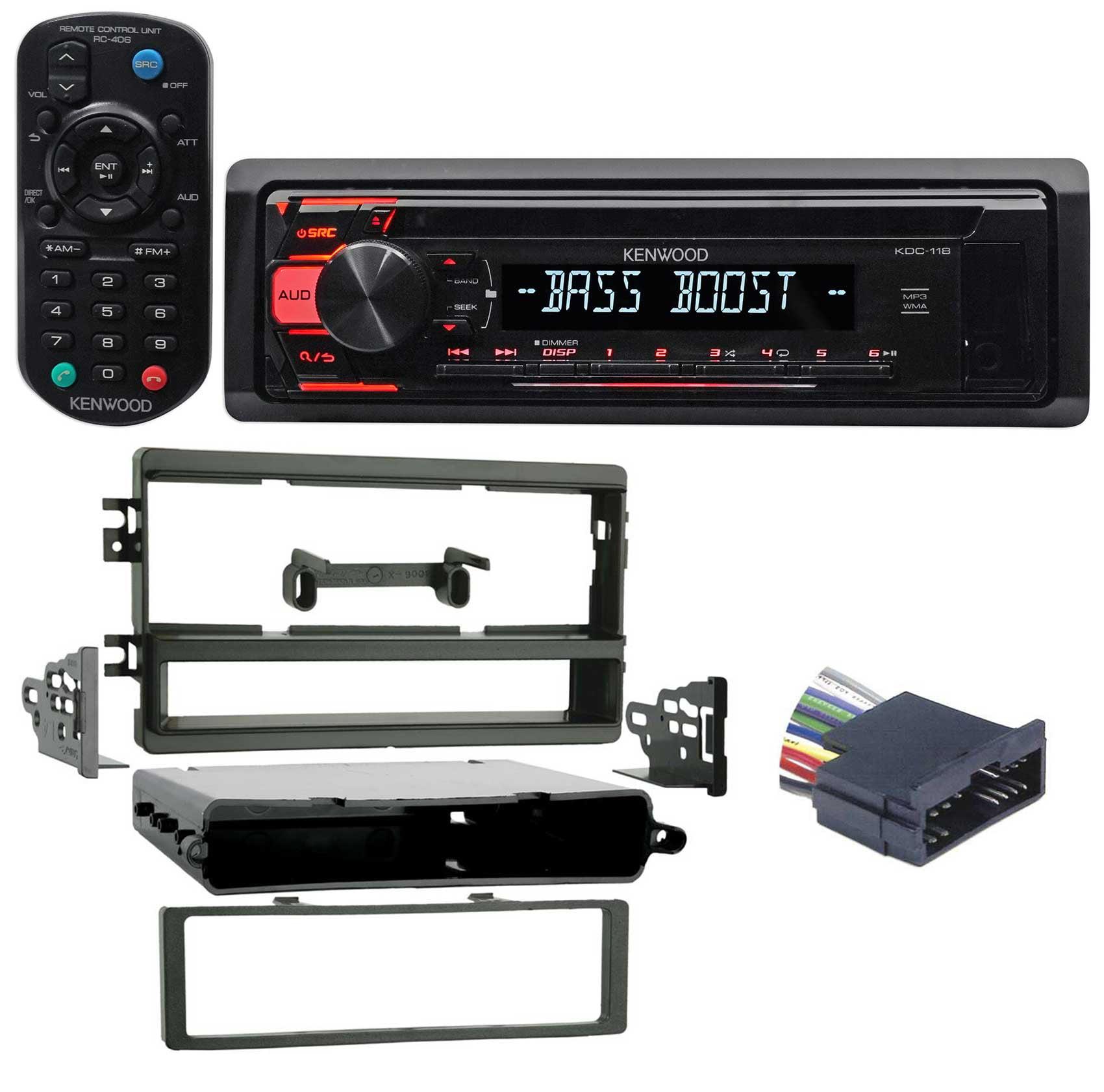 2002 KIA Spectra Kenwood CD Player Stereo Receiver w  Aux Mp3 WMA, Eq + Remote by Kenwood