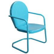 34-Inch Outdoor Retro Tulip Armchair, Turquoise Blue