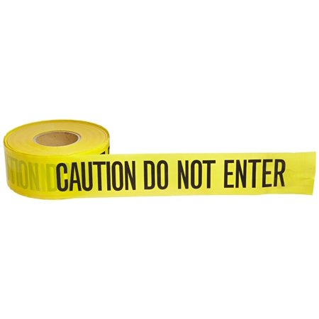Boston Industrial Barricade Yellow Tape: CAUTION DO NOT ENTER - Police Caution Tape