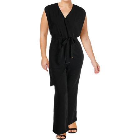 Lauren Ralph Lauren Womens Plus Awinita Asymmetric Wrap Front (Plush Jumpsuit)