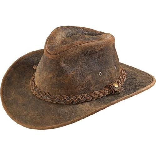Henschel 1161-21XL Outback Full Grain Distressed Leather Hat, Rustic, Extra Large