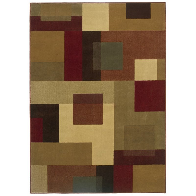 "Oriental Weavers Amelia 5' x 7'6"" Machine Woven Rug in Red"