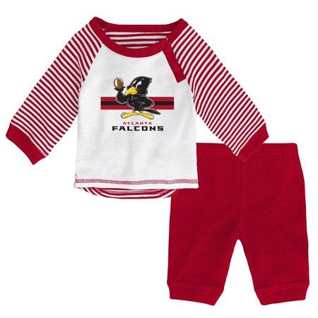 separation shoes ad71c 7cd1f Newborn & Infant White/Red Atlanta Falcons Long Sleeve Pants Set