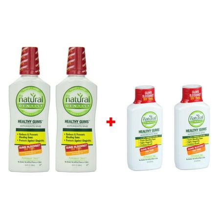 Natural Dentist Healthy Gums Peppermint Twist Antigingivitis Rinse, 16.9 Ounce PK/2 + 2 FREE Travel Size