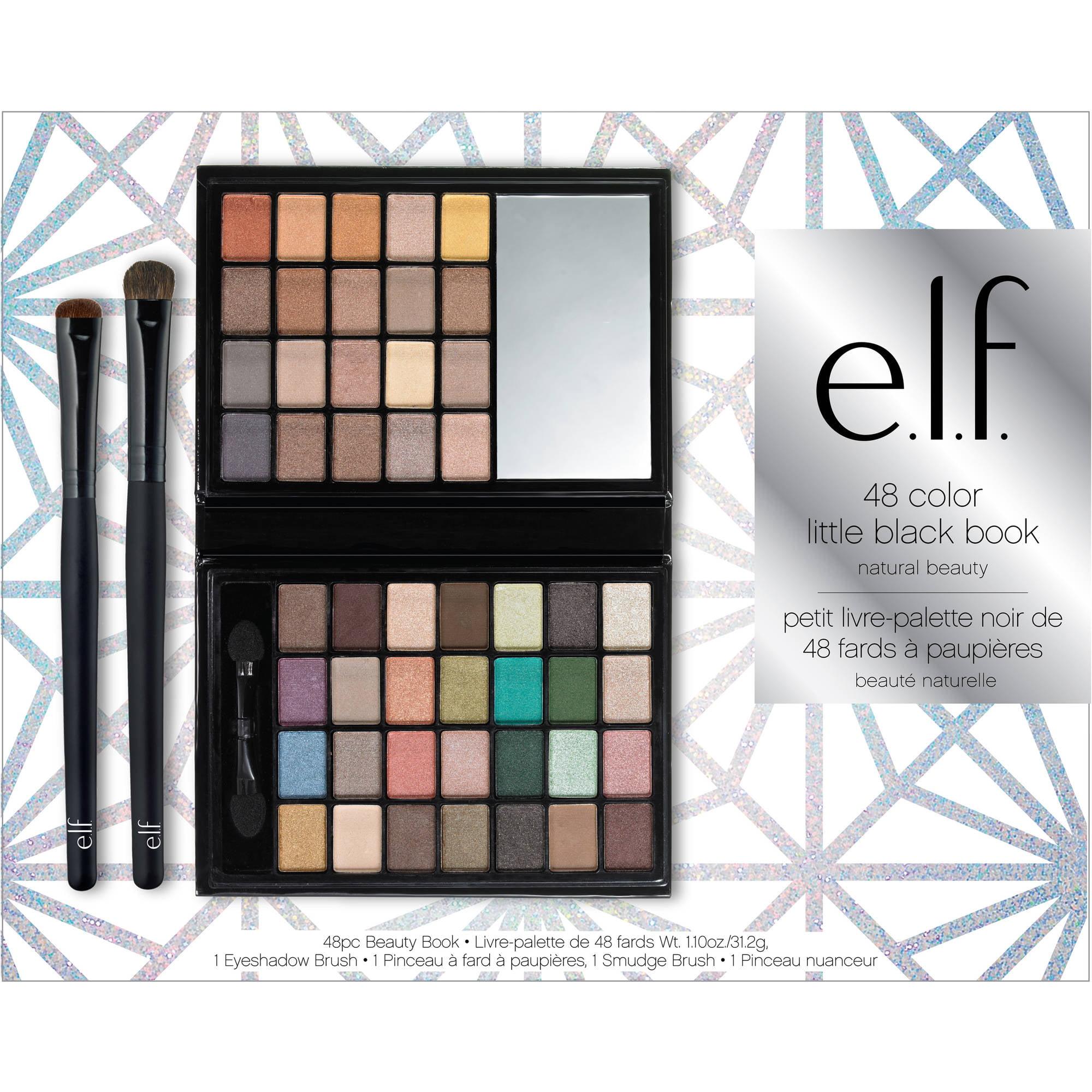 elf makeup brushes walmart. e.l.f. cosmetics little black book natural beauty set, 50 pc - walmart.com elf makeup brushes walmart