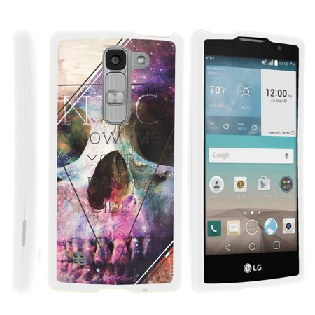 LG Escape 2 H443, LG Spirit LTE, [SNAP SHELL][White] 2 Piece Snap On Rubberized Hard White Plastic Cell Phone Case with Exclusive Art - Your Dark Side